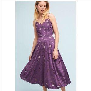 Anthropologie Moulinette Soeurs purple dress NWOT